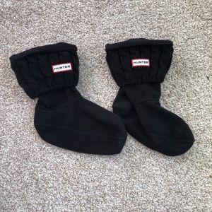 Hunter Black Short Cable Knit Boot Socks